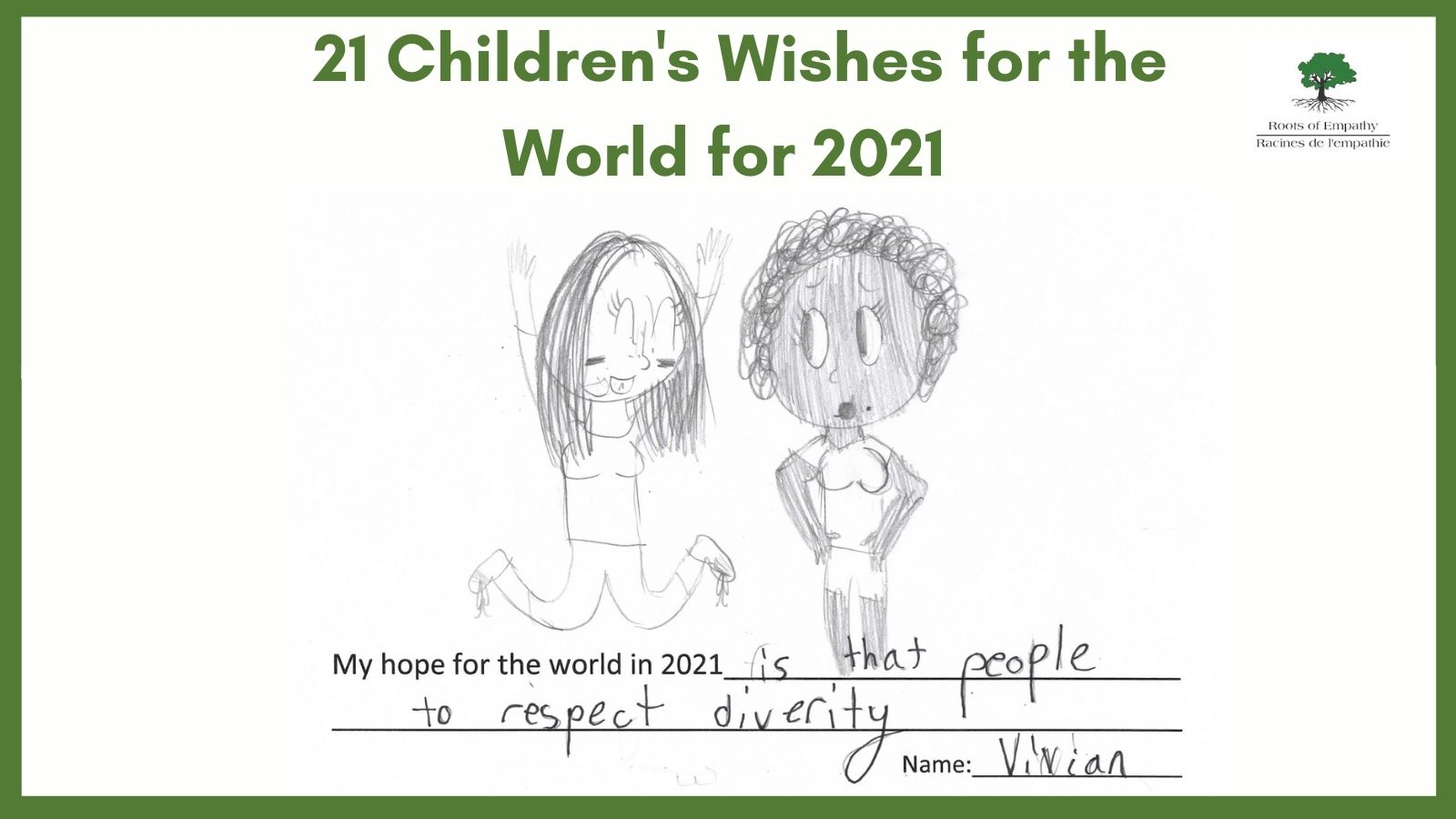 A drawing and letter by Vivian